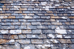 Background of old stone roof tiles Royalty Free Stock Image