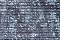 Background of old stone roof tiles Stock Photos
