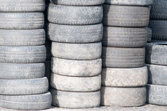 Background with old tires Stock Images