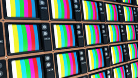 Background of old TVs. End of television Royalty Free Stock Photography