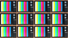 Background of old TVs. End of television Stock Photography