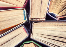Background of old vintage books. Top view Royalty Free Stock Image