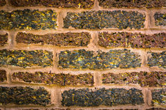 Background of old vintage brick background. Background of old vintage brick Stock Photo