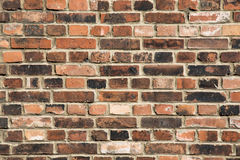 Background of old vintage brick wall. Background of brick wall t. Exture Royalty Free Stock Photos