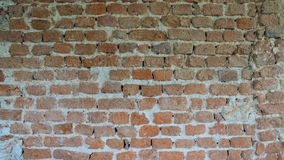Background of Old Vintage Brick Wall. Day Stock Photo