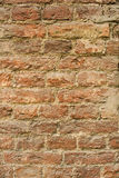 Background of old vintage brick wall. Fragment Stock Photos