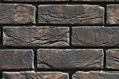 Background of old vintage brick wall Stock Photography