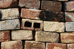 Background of old vintage brick wall. Old red bricks used Royalty Free Stock Image