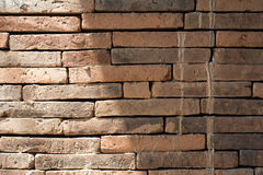 Background of old vintage brick wall. In temple stock photo