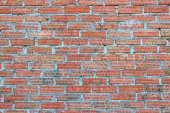 Background of old vintage brick wall. Texture Stock Image
