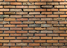 Background of old vintage brick wall. Old vintage brick wall use for background Stock Photography