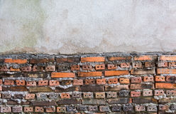 Background of old vintage brick wall, Wallpaper Pattern Royalty Free Stock Photos
