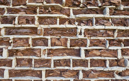 Background of old vintage crumbling brick wall Royalty Free Stock Photo