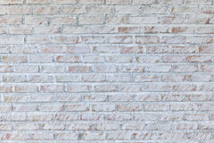 Background of old vintage dirty brick wall with peeling plaster, texture royalty free stock photography