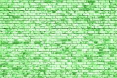 Background of old rick wall with peeling plaster, texture painted in green color stock photos