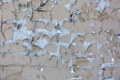 Background of old wall with peel paint crack texture surface Stock Photo