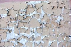 Background of old wall with peel paint crack texture surface Stock Images