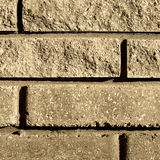 The background of the old wall of the porous brick Stock Photography