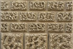 Background of old wall texture, traditional Mallorcan ashlars. Traditional Mallorcan ashlars. Walls of the village of Santanyi Royalty Free Stock Photography