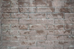 Background of the old wet bricks. In the frost Royalty Free Stock Image