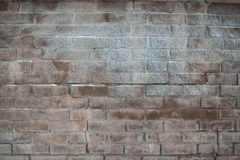 Background of the old wet bricks. In the frost Stock Images