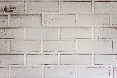Background of old white wood block texture Stock Images