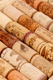 Background of Old Wine Corks Royalty Free Stock Photo