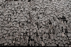 Background of old wood roof. Stock Photo