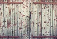 Background old wooden barn door Royalty Free Stock Photos