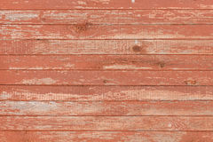 Background of old wooden board with cracked red paint Royalty Free Stock Photography