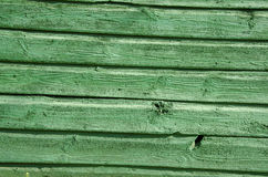 Background of old wooden board wall painted green Stock Photo