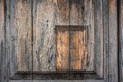 Background of old wooden boards with convex insert and wood. Wood texture.  stock image