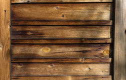 Background of old wooden boards with nails Stock Photo