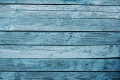 Background of old blue wooden boards stock image
