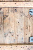 Background of old wooden box.  Stock Photo