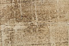 Brown and textured old wooden floor texture. Background of an old wooden floor texture stock photo