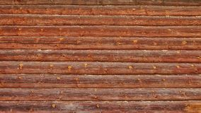 Background of the old wooden logs.  royalty free stock photography