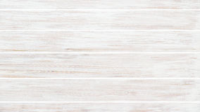 Background of old wooden weathered board painted white. Royalty Free Stock Photos