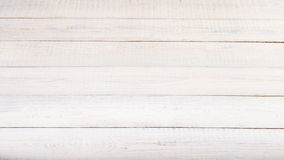 Background of old wooden weathered board painted white. Stock Photos