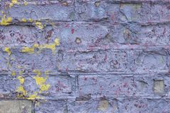 Background of an old worn brick wall royalty free stock photography