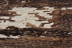 Background of old worn darkened from time to time, brown wooden plank.  royalty free stock photo