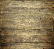 Background of old worn wooden planks with nails Stock Image
