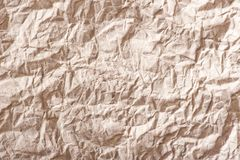 Background old wrinkled brown paper Stock Image