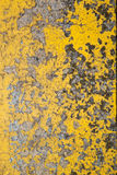 Old yellow gray wall Stock Image