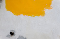 Background of old yellow painted wall Royalty Free Stock Image
