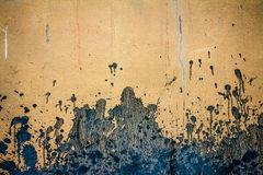 Background of old yellow painted wall Stock Images