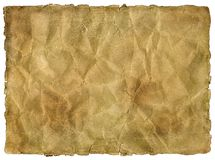 Old yellowed and stained sheet of paper royalty free stock photo