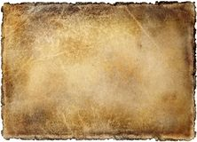 Old yellowed and stained sheet of paper royalty free stock photography