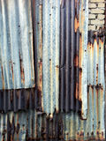 Background of old zinc plate with dirt stain on surface Stock Image