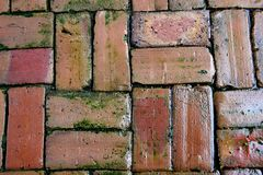 Background of oldclay bricks Royalty Free Stock Image